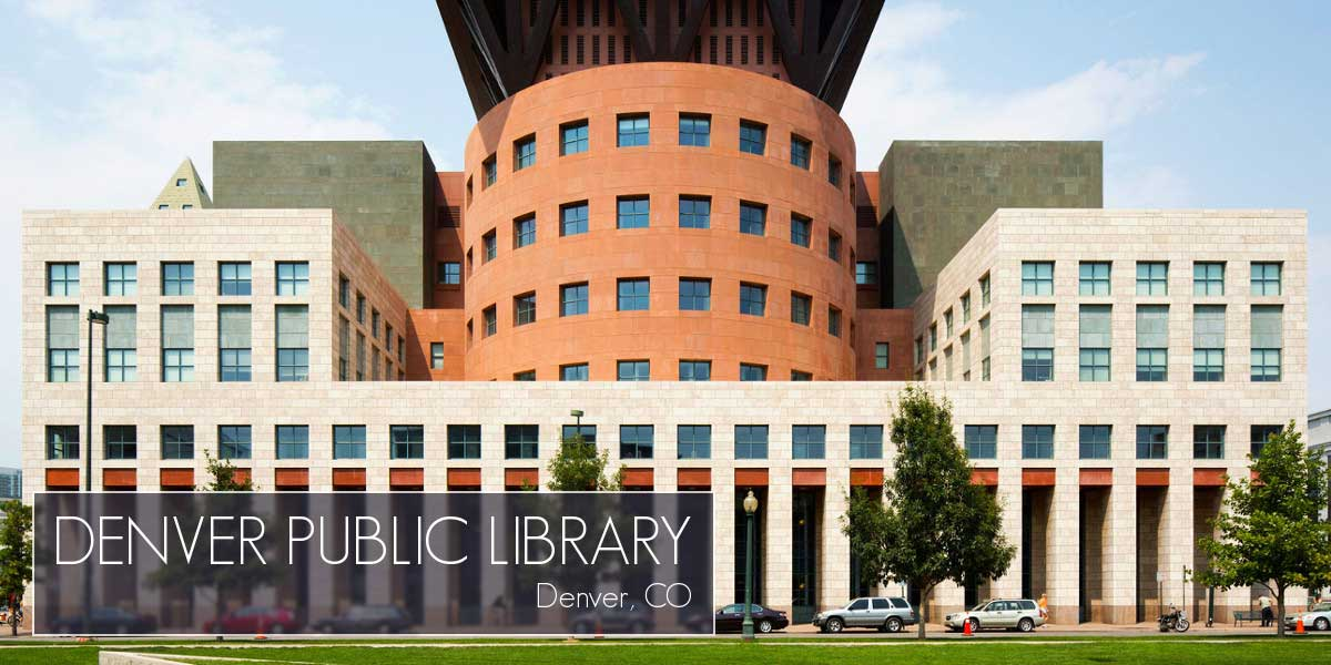 Denver Publi Library in Denver Colorado made with Mustang Metal Stone Anchors