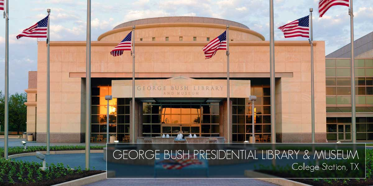 George Bush Presidential Library & Museum in College Station Texas made with Mustang Metal Stone Anchors